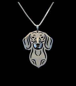 Dachshund-Silver-Charm-Pendant-Necklace-Dog-Lover-Friend-Gift