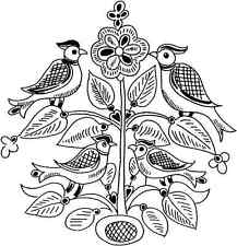 Large Unmounted Rubber Stamp - Birds of a Feather - 8009