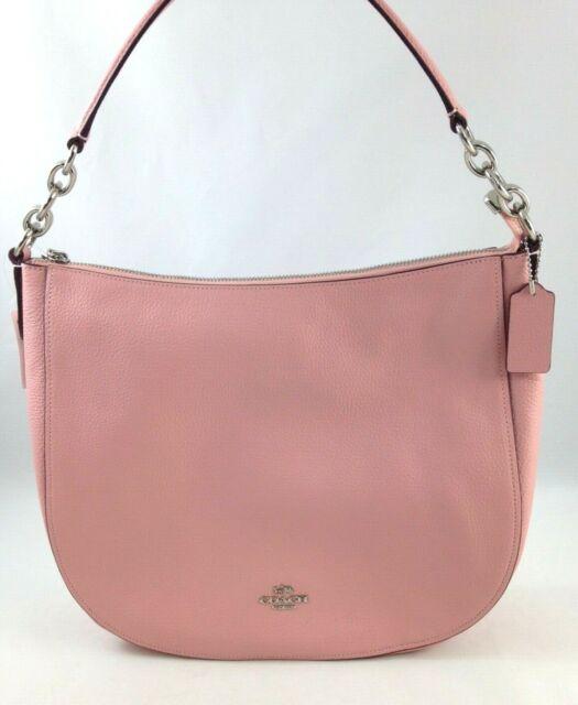 b29d344c9a New Authentic Coach F31399 Leather Elle Hobo Shoulder Bag Purse Petal Pink