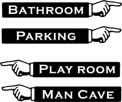Custom Hand Pointing Direction vinyl wall decal sign decor sticker embellishment