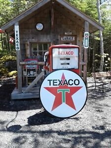 XTRA LARGE  37 INCH VINTAGE STYLE  TEXACO GASOLINE SIGN