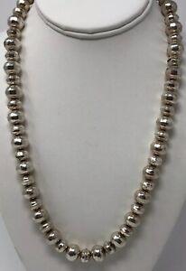 """Native American  Sterling Silver Navajo Pearls Earrings 1.5"""" 318"""
