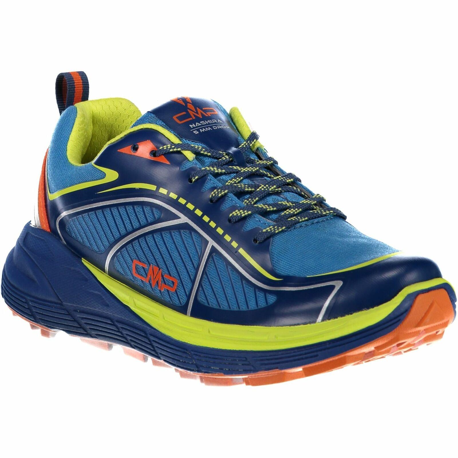 CMP zapatillas calzado deportivo Nashira maxi trail zapatos azul monocromo Mesh