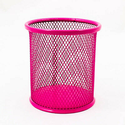 UPICK NEW Round Office Mesh Steel Pen Ruler Desk Organizer Storage Holder A0768
