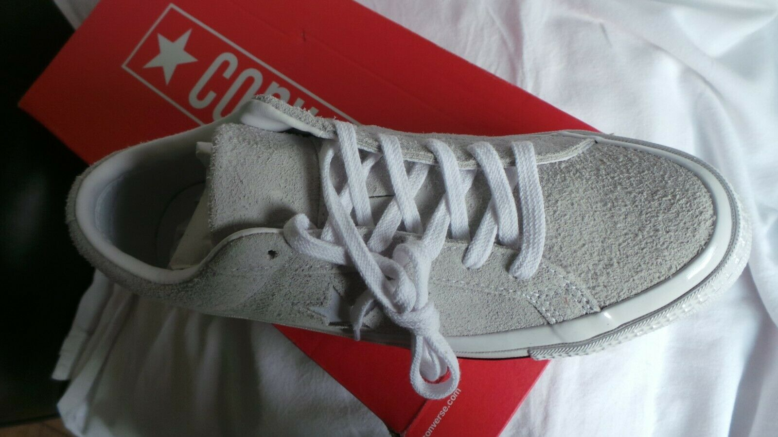 BRAND BRAND BRAND NEW in box Converse CTAS Grey leather One Star Ox trainers UK 8 EU 41.5 58e669