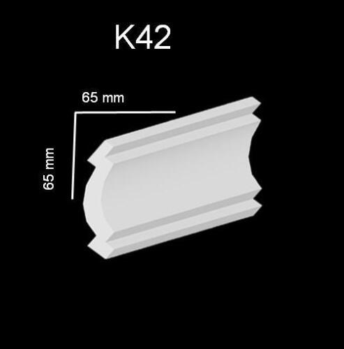 70 Meter Styroporleisten Zierleisten Stuckprofile Zierprofile Stuck 65x65mm K42