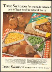1962 vintage ad for Swanson Frozen Dinners -412 | eBay
