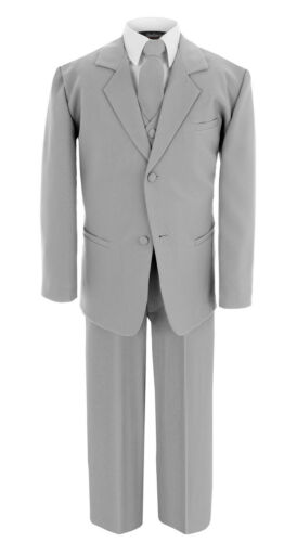Sale! Gino Giovanni Boy/'s Formal Silver Gray Dresswear Complete Suit Set