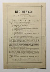Original-Prospekt-Bad-Muskau-Preussische-Oberlausitz-um-1885-Sachsen-Goerlitz-xz