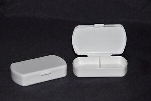 2, Pillendosen,Tablettendose,Tablettenbox,2 Fächer,Pillenspender,Tagesbox