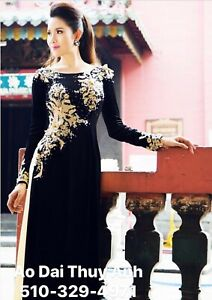 Free Priority shipping Ao Dai Vietnamese Long Dress with Pants