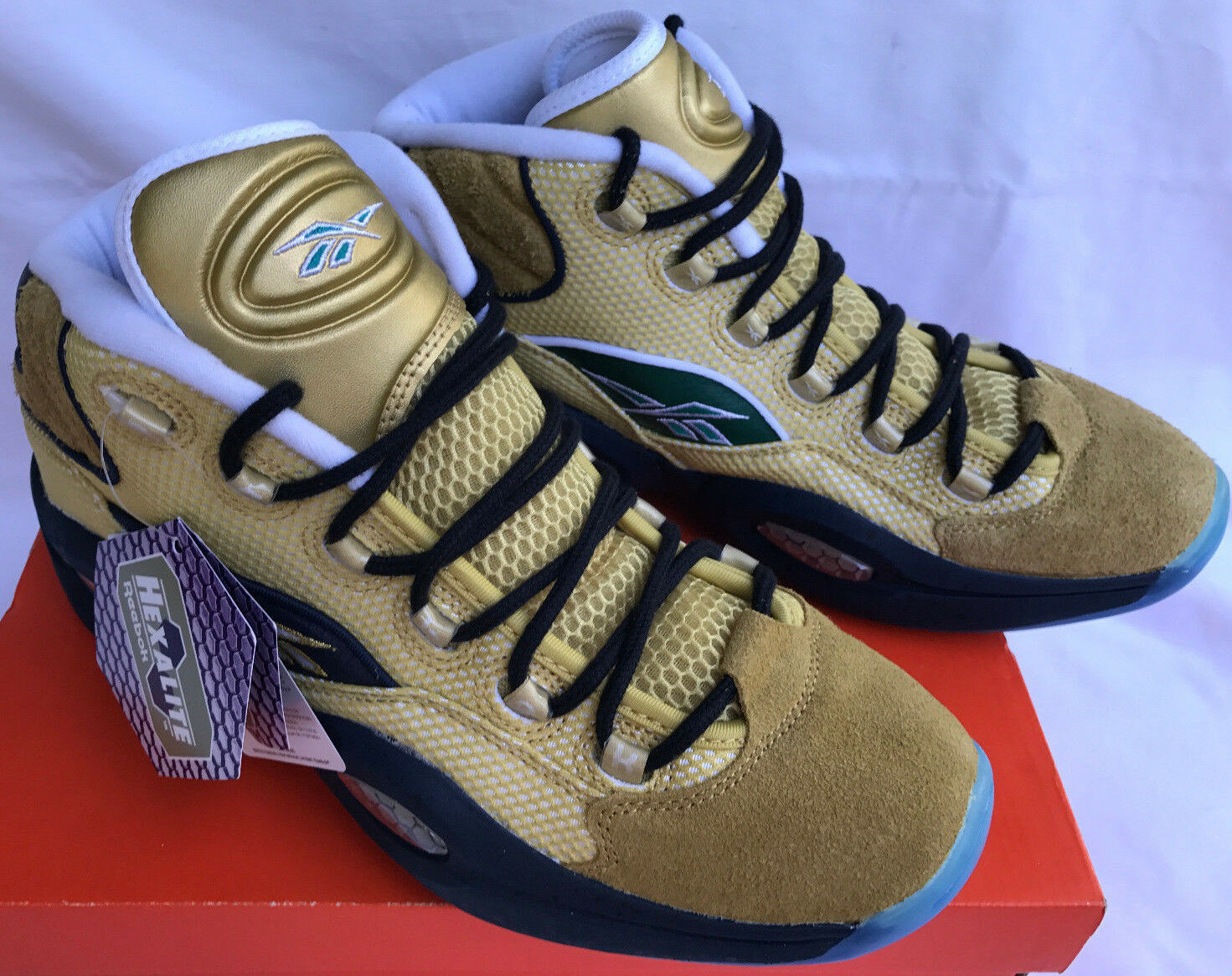Reebok Question Mid BD3875 gold Standing Room Only Basketball shoes Men's 9 new