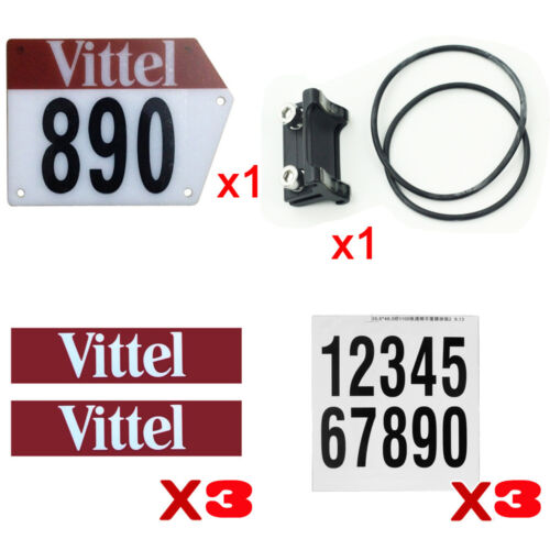 Custom Road Bike Triathlon Number Plate Mount Holder Decals Clamp on Seatpost
