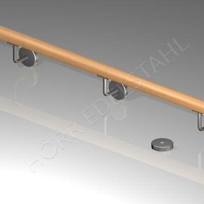 250 cm  3x Halter Edelstahl Handlauf Wand-Geländer 2,5m