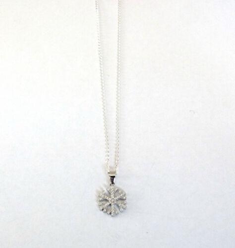 """Copo de nieve de plata esterlina 925 en una cadena de Plata 16/"""" 18/"""" 0R 20/"""" H1073"""