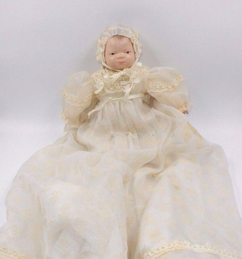 VINTAGE GRACE  5 PUTNAM HAND PAINTED BISQUE 11  DOLL CLOTH BODY GERMANY