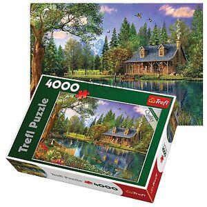 Trefl-4000-Piece-Adult-Large-Afternoon-Idyll-Cottage-Lake-Floor-Jigsaw-Puzzle