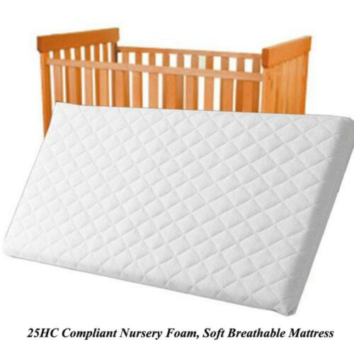 NURSERY BABY QUILTED BREATHABLE CRADLE//PRAM //COT//CRIB MATTRESS SIZE 84 x 43 x 5