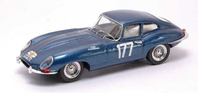 Jaguar E Coupe' #177 Dnf Tour De France 1963 Cardi / Klukaszenwski 1:43 Model