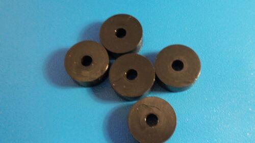HIGH QUALITY M6 x 24 x 10mm  BLACK NYLON  SPACER WASHER  QTY = 5