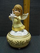 Precious Moments Angel Holding Nativity Star - music box plays Joy to The World