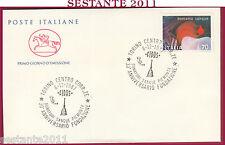 ITALIA FDC CAVALLINO DONATORI SANGUE PIEMONTE 1987 ANNULLO TORINO Z680