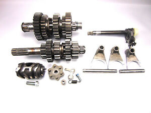 1985-85-Kawasaki-KX250-KX-250-Transmission-Shift-Forks-Drum-Gear-Changer-Shaft