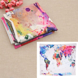 Details about World Map Wall Hanging Tapestry Table Cloth Study Office Home  Living Room Decor