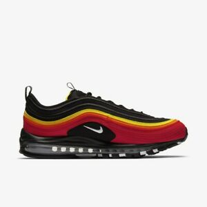 Nike Air Max 97 Qs Black Red Yellow Ct4525 001 Mens Running Shoes Sneakers Ebay
