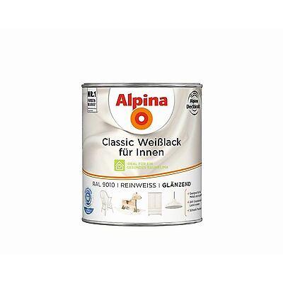 Alpina Classic Weißlack für Innen - Acryl Lack mit integrierter Grundierung