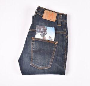 29631 Nudie Jean Mince Finn Original Indigo Écraser Bleu Hommes En Taille 28/30