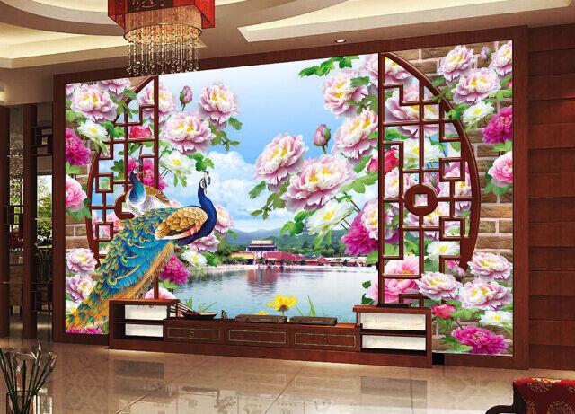 3D Arch Blooming Flower Paper Wall Print Decal Wall Wall Murals AJ WALLPAPER GB