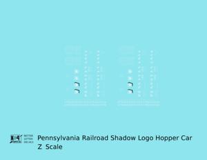 K4 Z Decals Pennsylvania Railroad PRR Twin Hopper Car White Shadow Herald
