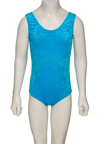 All Colours Dance Gymnastics Velour Velvet Sleeveless Leotard KDGV046 By Katz