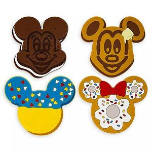 Disney-Parks-Mickey-Minnie-Mouse-Ears-Dessert-Coaster-Set-4-Piece-Silicone-NEW