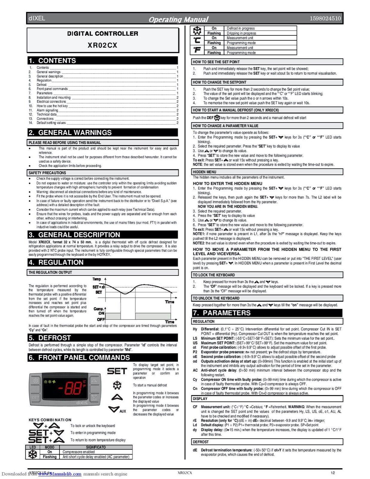 Dixell Xr02cx 4n4fq U Digital Temperature Controller Liccevj4af For Sale Online Ebay