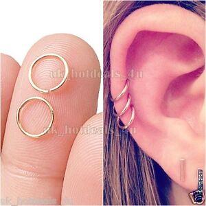 Fake Cartilage Ring Cuff Tragus Hoop 06m Fake Piercing Fake