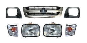 NEW-HEAD-LIGHT-CORNER-LAMP-GRILLE-amp-SURROUND-SUIT-TOYOTA-HILUX-2WD-2001-2005
