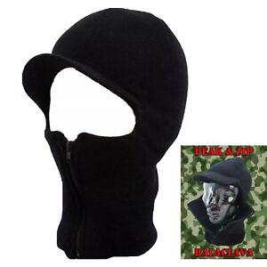 BLACK-ZIP-BALACLAVA-CAP-MASK-WINTER-ARMY-STYLE-SKI-HAT-NECK-WARMER-PAINTBALL