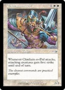 Chieftain en-Dal -- EX -- Nemesis -- Engl. -- Magic the Gathering-afficher le titre d`origine XRGjUJYr-09155200-925648762
