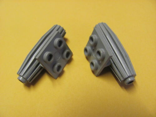 Strakes 2 x 2 Thin Top Plate x2 LEGO 4229 @@ Engine @@ GREY @@ GRIS