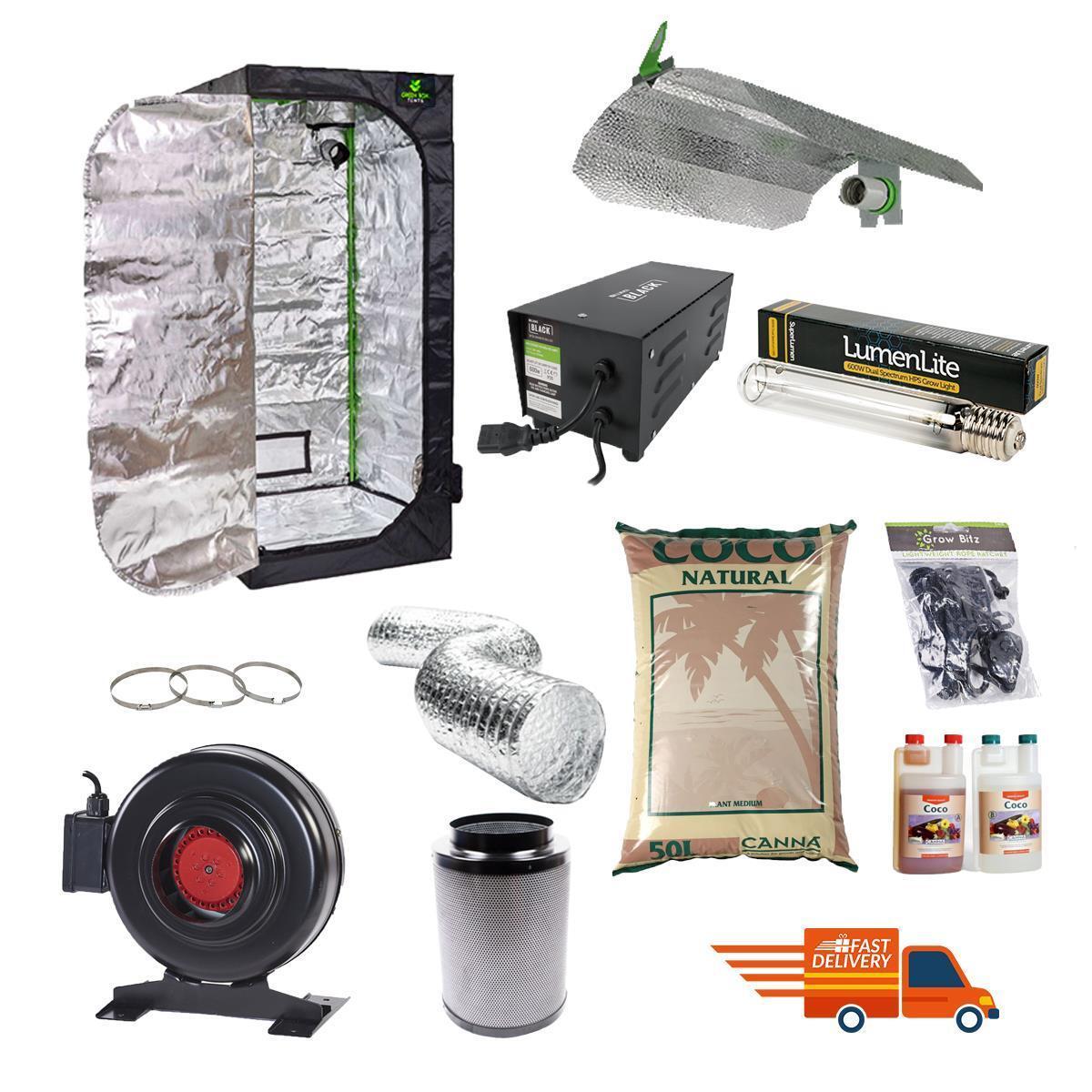 Profesional Grow Tent Kit 1.2x1.2mx2m Canna Magnético de Luz de Crecimiento Hidropónica Coco