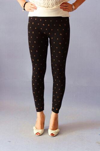 NEW Women Black  Leggings Pants Socks One size fits 6 8 10 12 14