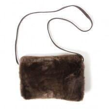 DRIES VAN NOTEN Fur Leather Shoulder Bag(K-48570)