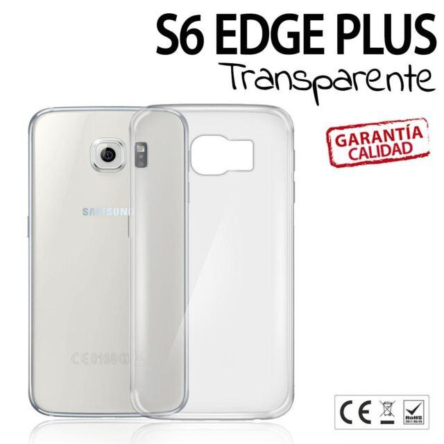 Funda compatible con Galaxy S6 Edge PLUS carcasa case TPU TRANSPARENTE FLEXIBLE