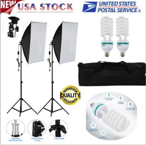 Photography Light Set Soft Light Box LED Bulb Light Photogra