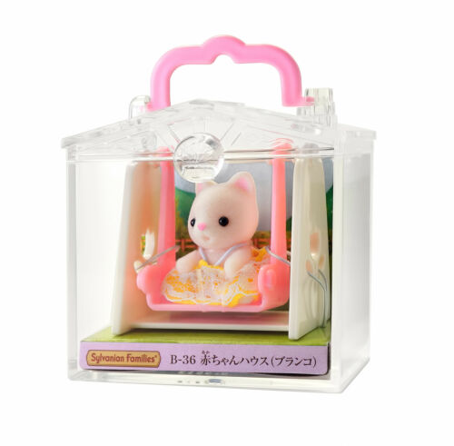 Sylvanian Families Calico Critters Cat on Swing