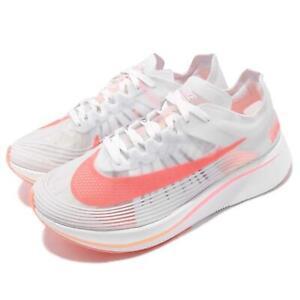 new product 9c6ab d90fb New Nike Women's Zoom Fly SP Running Shoe White/Sunset Pulse AJ8229 ...