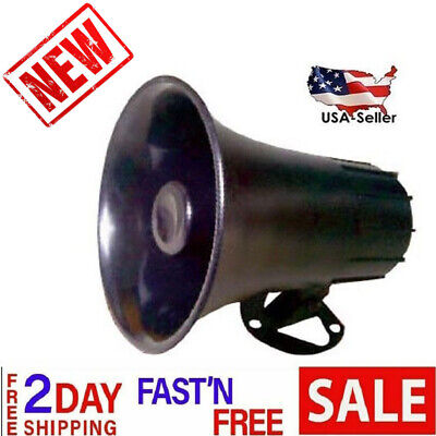 Outdoor Black ABS Weather Proof PA Speaker Horn CB Radio Game Call 15w Marine