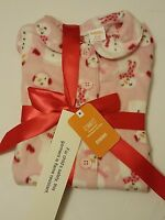 Gymboree Girls Pink Fleece Snowman Pajama Set Gymmies Sleep Set Pajamas Pj 18-24